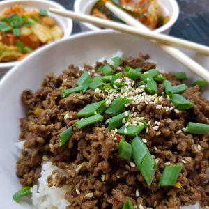 Wołowina po koreańsku – bulgogi z mielonej wołowiny